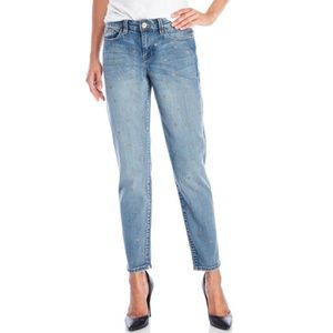 NANETTE LEPORE Blue with Gold Stars Jeans